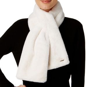 Calvin Klein Faux Fur Pull Through Scarf